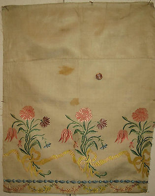 Antique Beautiful  Late 18th/Early 19th C. French Silk Brocade Fabric (8883)