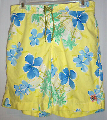8eaddfb8a7 TOMMY BAHAMA sz L Mens Hawaiian Mesh Lined Swim Trunks Surf Board Shorts  Lined
