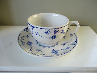 Furnivals Denmark Blue Breakfast Cup and Saucer