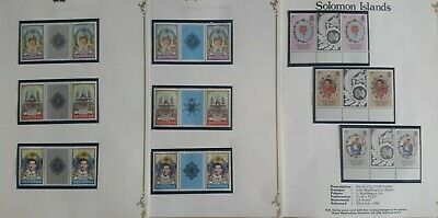 Lot of British Commonwealth 1981 Royal Wedding Issue Gutter Pairs MNH--