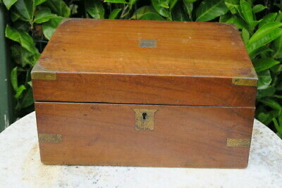 ANTIQUE 19c MAHOGANY AND INLAID WRITING SLOPE