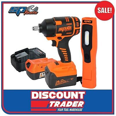 "SP Tools 18V Brushless Lithium-Ion Cordless 1/2"" Drive Impact Wrench Kit SP81133"