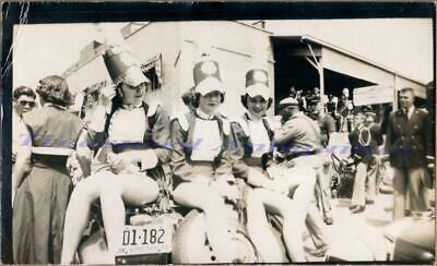 1950s Virginia Military Street Parade Marching Band Drum Majorettes Girls Photo