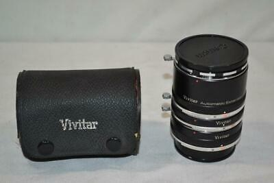 Vivitar Automatic Extension Tube AT-7 for Konica Camera Body 36mm 20mm 12mm