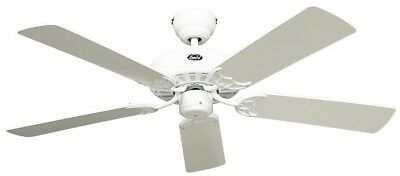 Ceiling Fan Classic Royal Lacquer White 75 cm to 180 cm with Pull Switch