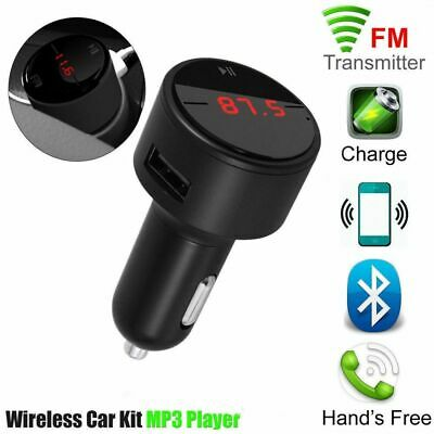 Voiture USB Chargeur Allume-Cigare Bluetooth Transmetteur FM Radio MP3 Player SD