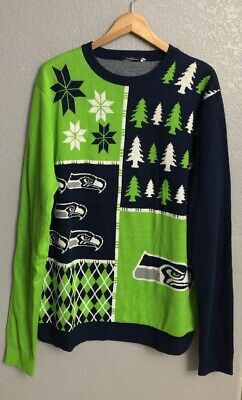 sports shoes 92912 f6506 SEATTLE SEAHAWKS NFL Football Ugly Holiday Snowman Sweater ...