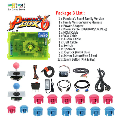 NEW Pandora box 6 1300 in 1 Family Version joystick button and wire harness