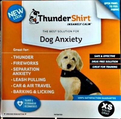 THUNDERSHIRT FOR DOG ANXIETY BEHAVIOR TRAINING GRAY SIZE XS  8-14lbs NIB RET $45