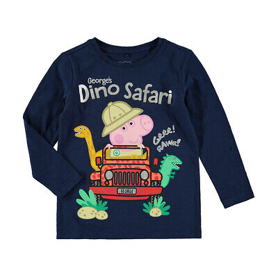 Peppa Pig George's Dino Safari  Boys/Girls t shirt top long sleeve New with tags