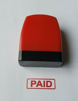 2pcs PAID self inking stamp 31x10mm Red ink color Ready to use