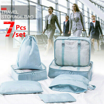 New 7 set Waterproof Compression Packing Cubes Large Travel Luggage Organizer