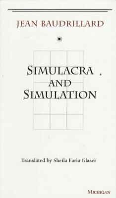 Simulacra and Simulation by Jean Baudrillard 9780472065219   Brand New