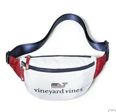 NWT Vineyard Vines for Target Fanny Pack Whale Navy Blue White  Free Shipping!