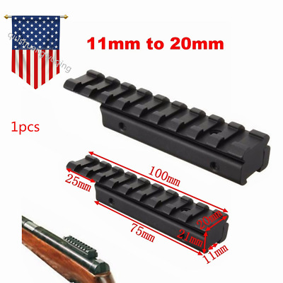 "US 3//8/"" To 7//8/"" Dovetail Extend 20mm Picatinny Rail Adapter Mount For Rifle Hunt"