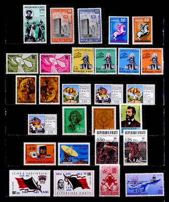 Haiti: 1960'S - 70'S Stamp Collection Mint Never Hinged With Sets