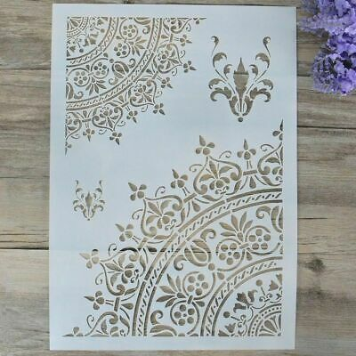 Plastic Layering Stencils Template For Walls Painting Scrapbooking Stamping New