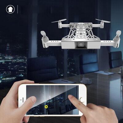 720P HD Camera  Foldable WIFI FPV RC Quadcopter Drone with Selfie Drone White