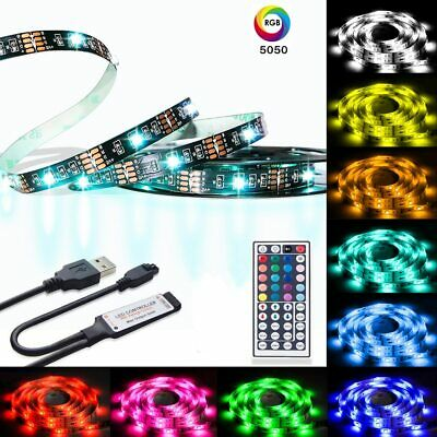 RGB Strip Lights SMD 5050 Waterproof Dimmable Led Light with Remote Controller