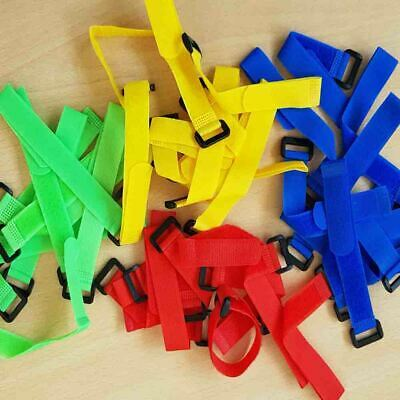 Job Lot Wholesale Reusable Coloured Hook Loop Strap Cable Ties Packs Of 10 x 20