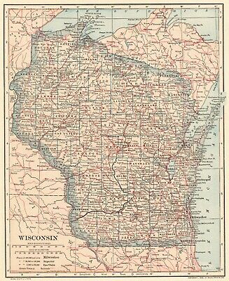 1908 Antique United States Map Collectible Vintage Usa Map 6025 - Us-map-1908