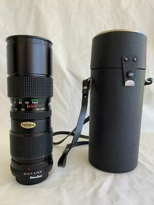 GREAT VINTAGE VIVITAR MACRO 85-205mm AUTO ZOOM CAMERA LENS