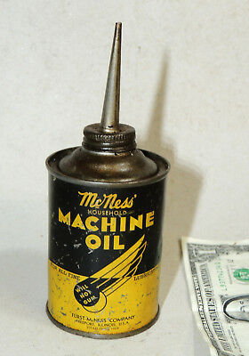 McNess Machine OIL CAN Antique vtg Oiler Tin Bicycle Sewing Machine Motor Tools