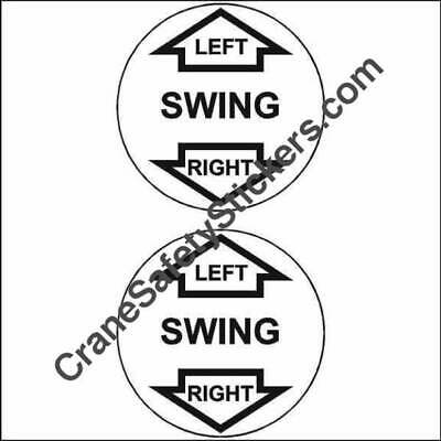 Manitex Crane Control Label Swing Left and Right