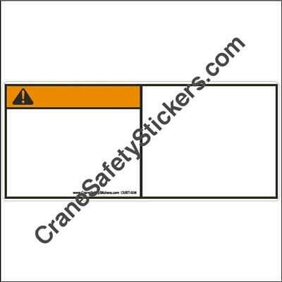 CUST-005 Custom WARNING Safety Decals ANSI Z535 add your own text or graphic