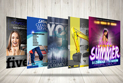 Custom Creative Professional Flyer Design within 48 hours Unlimited Versions