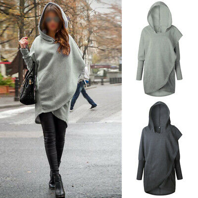 Women Outwear New Fashion Warm Soft Solid Lady Sweater Winter Hooded Tops Loose