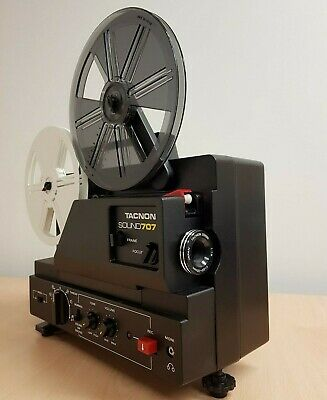 Super 8 Film Projector In Original Box Model Tacnon Sound 707 - FREE SHIPPING
