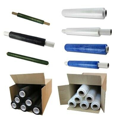 BLACK & CLEAR PALLET SHRINK WRAP STRONG STRETCH CLING FILM 400mm 500mm 100mm