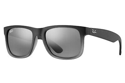 Ray Ban Justin Classic Sunglasses (Grey/Silver Gradient Mirror)