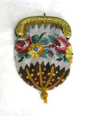 Charming Antique {1800s} Beadwork Purse