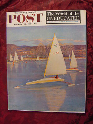 SATURDAY EVENING POST November 28 1959 Paul Gallico Sanora Babb Jerry Giesler