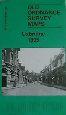 Old Ordnance Survey Maps Uxbridge Middlesex 1895  Godfrey Edition New