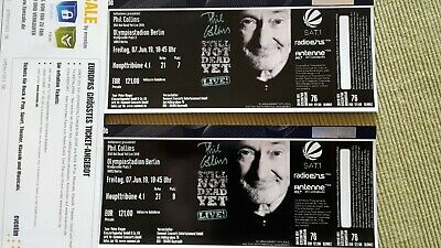 Konzertticket PHIL COLLINS, OLYMPIASTADIUM in Berlin 7 Juni 2019