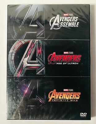 Marvel The Avengers 3-Movie Collection Assemble, Age Of Ultron, Infinity War DVD