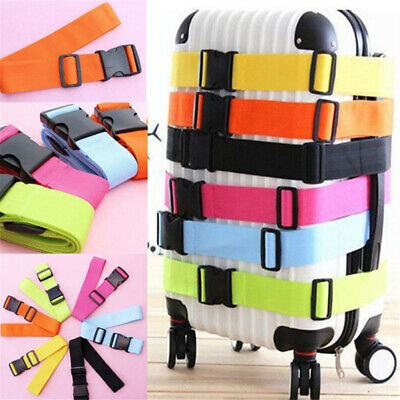 Package Suitcase Packing Tie Down Nylon Lock Belt Buckle Straps Travel Luggage