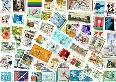 A Lovely Mix Of Mostly Recent Commemorative Stamps From Sweden