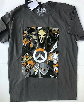 43f8c0b50 Overwatch Gray T Shirt Blizzard Entertainment Video Gaming New w/ tags M L  XL 2X