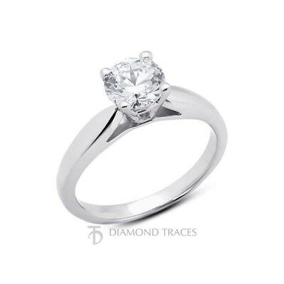 3.12ct E-I1 Idéal Diamant Rond Naturel 18k or Cathedral Bague Solitaire 2.8mm