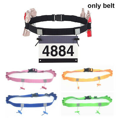 Women Unisex Running Waist Pack Sports Tool Race Number Belt Cloth Bib Holder