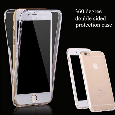Coque Housse Etui Total 360°Pour Iphone 6 5 7 8 X Xr Protection Tpu Gel Silicone