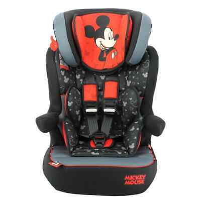 Disney Baby Car Seat 1+2+3 Red and Black Children Vehicle Safe Protector Chair