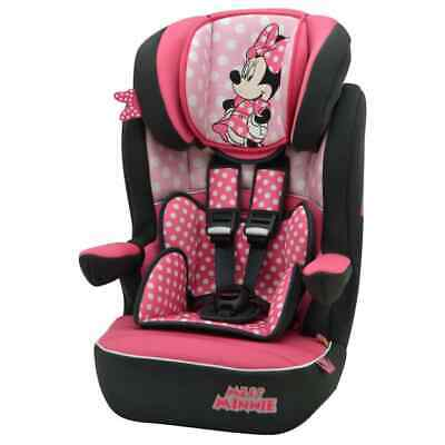 Disney Baby Car Seat 1+2+3 Pink and Black Children Vehicle Protector Chair