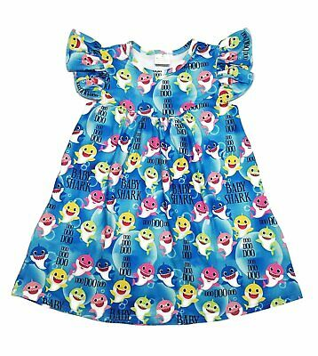 Baby Shark Flutter Milk Silk Dress -- Wrinkle Free -- Gorgeous! -- IN STOCK!