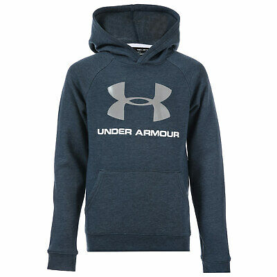 Infant Boys Under Armour Rival Logo Hoody in Navy