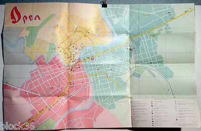 1985 Russian Travel Brochure with map of City of ORYOL (OREL)